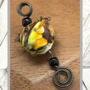 Artisan Blown Glass Necklace Pendant
